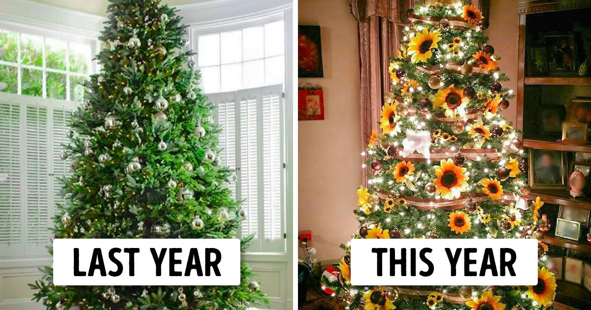 A New Trend To Decorate Christmas Trees With Sunflowers Is Making Everyone Go Wow