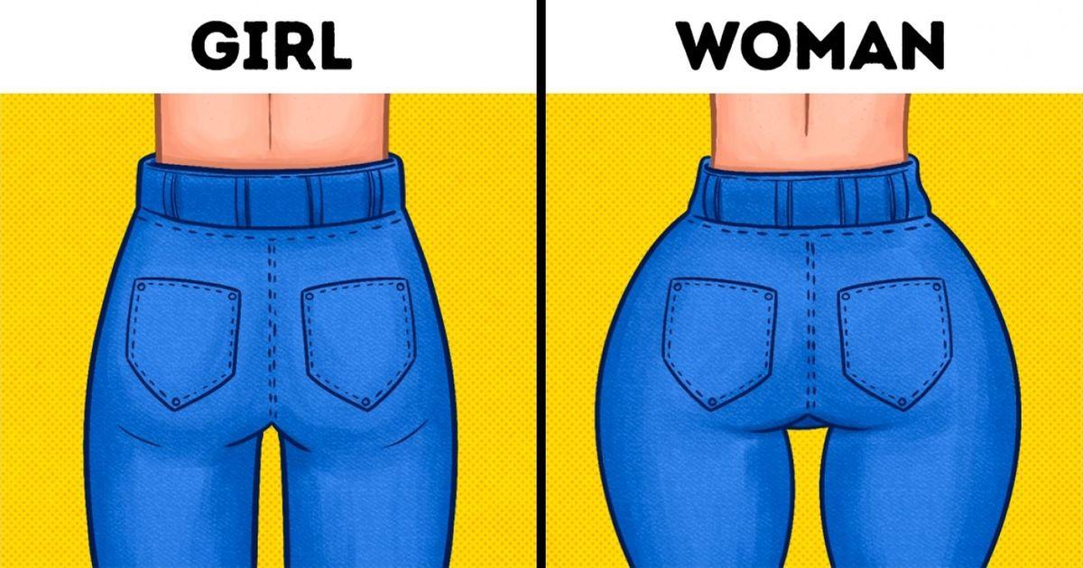 With woman hips man Men vs.