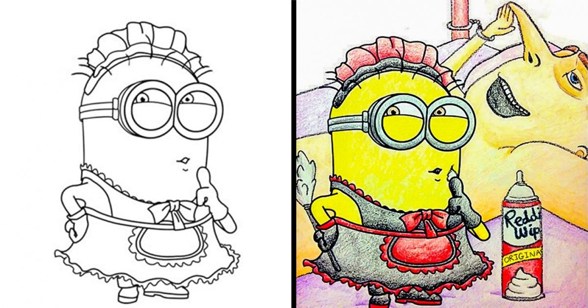 23 Times Adults Were Better Than Kids At Colouring Books