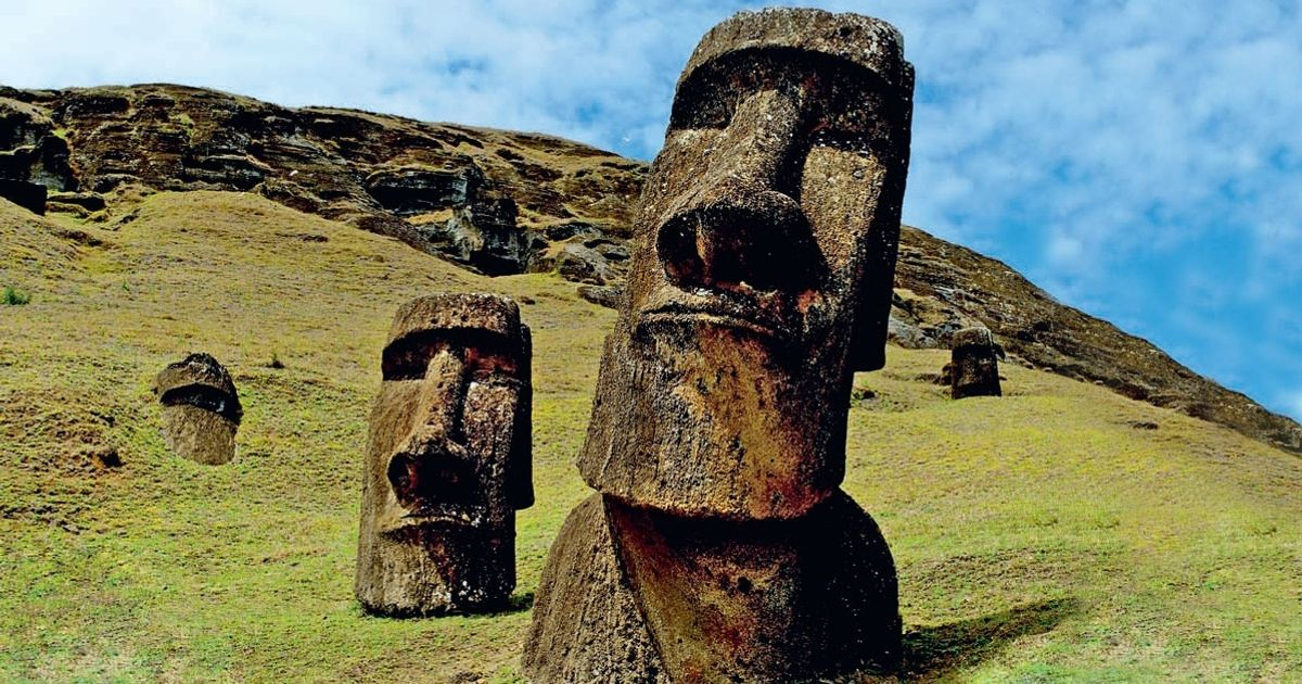 Do you know what's hidden beneath the Easter Island Heads?