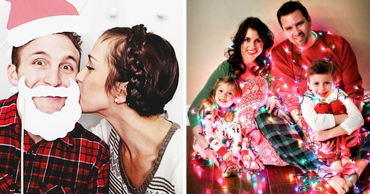 15 ingenious ideas for a family holiday photo session
