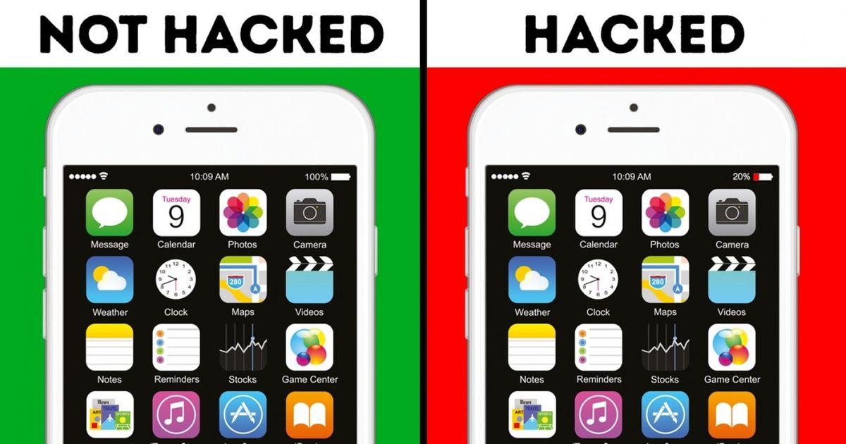 Hacked phone vs unhacked phone