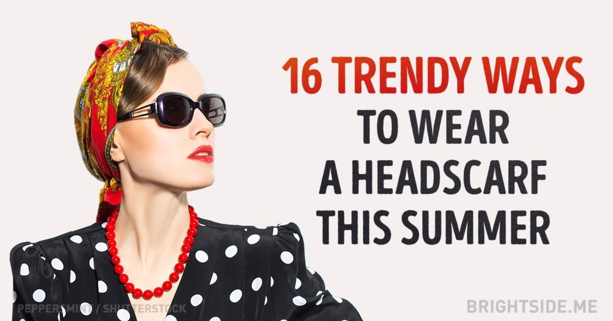 16 ways to wear a headscarf this summer