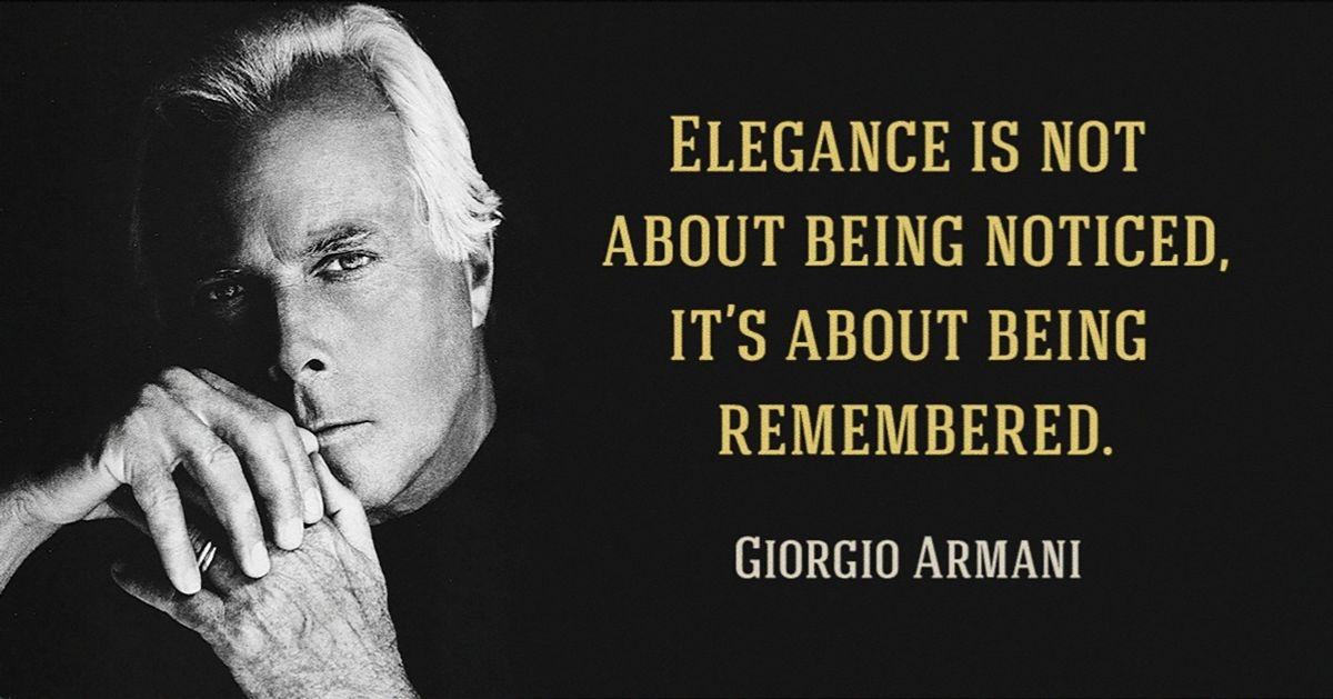 10fashion lessons from Giorgio Armani