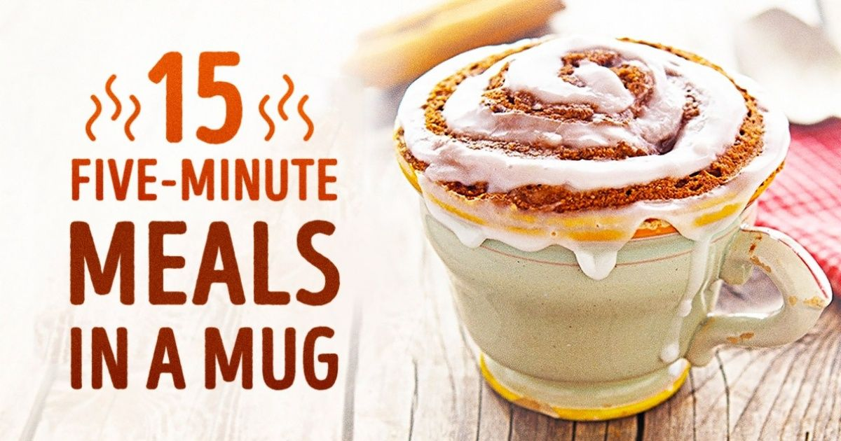 15 delicious and healthy meals you can make in a mug