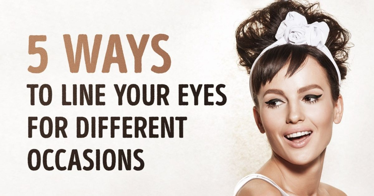 Five ways toline your eyes for different occasions