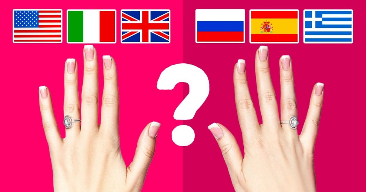 Why DoPeople inSome Countries Wear Wedding Rings onthe Left Hand and inOthers— onthe Right?