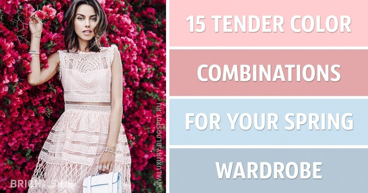 15 tender color combinations for your spring wardrobe