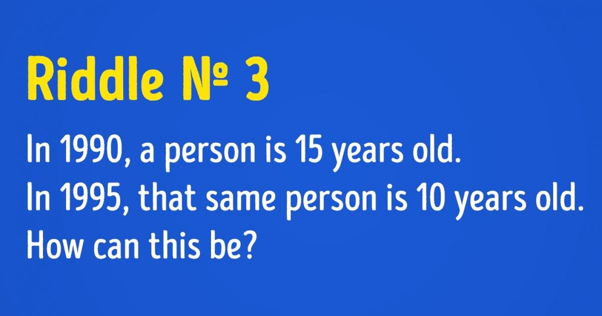 5 Brain Cracking Riddles Only The Sharpest Minds Can Solve