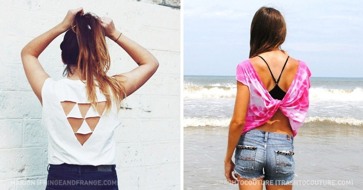 16 cool ways to transform an old T-shirt