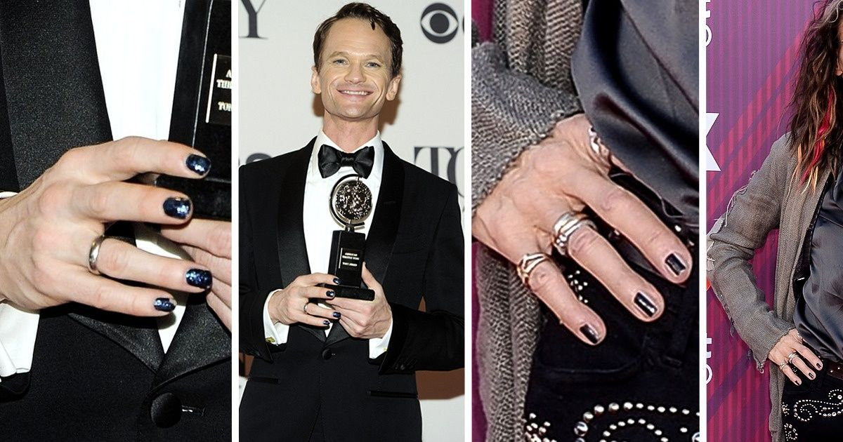 14 Times Celebrity Men Flaunted Their Polished Nails