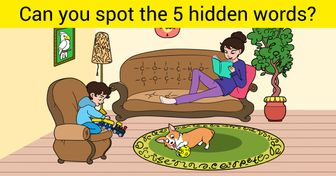 Test: Can You Find the 5 Words Hidden in the Picture?