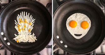 An Artist From Mexico Uses a Pan as a Canvas and Creates Edible Art From Eggs