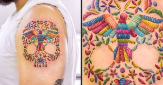 Mexican Artist Creates Tattoos That Seem to Have Been Done With a Needle and Thread