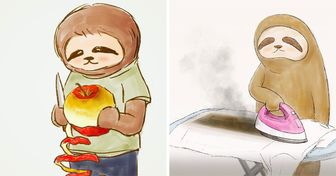 An Artist Shows the Daily Struggles of a Sloth, and It's Hard to Feel Indifferent About Them