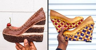 """An Artist Turns Shoes Into Mouthwatering Desserts, and It's Called the """"Shoe Bakery"""""""