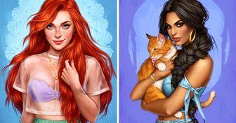 AChilean Artist Creates Modern Versions ofDisney Princesses, and We're Smitten byEach ofThem