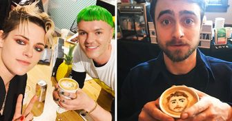 A Barista Paints Celebrity Portraits on Coffee, and They're Head Over Heels for His Art