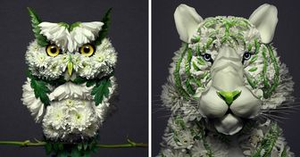 An Artist Turns Flowers Into Animal Sculptures, and the Results Are Like Living Miracles