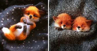 An Artist Turns Wool Into Tiny Smiley Animals That Can Fit in the Pocket of Your Coat
