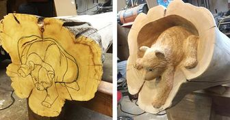 An Artist Carves Animals From Logs That Are So Realistic, It Seems They Jumped Out Right From the Forest