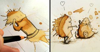 A German Artist Transforms Coffee Stains Into Cute Little Monsters That Are Stealing Our Hearts