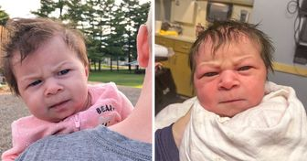 A Baby Born With a Grumpy Face Expression Goes Viral