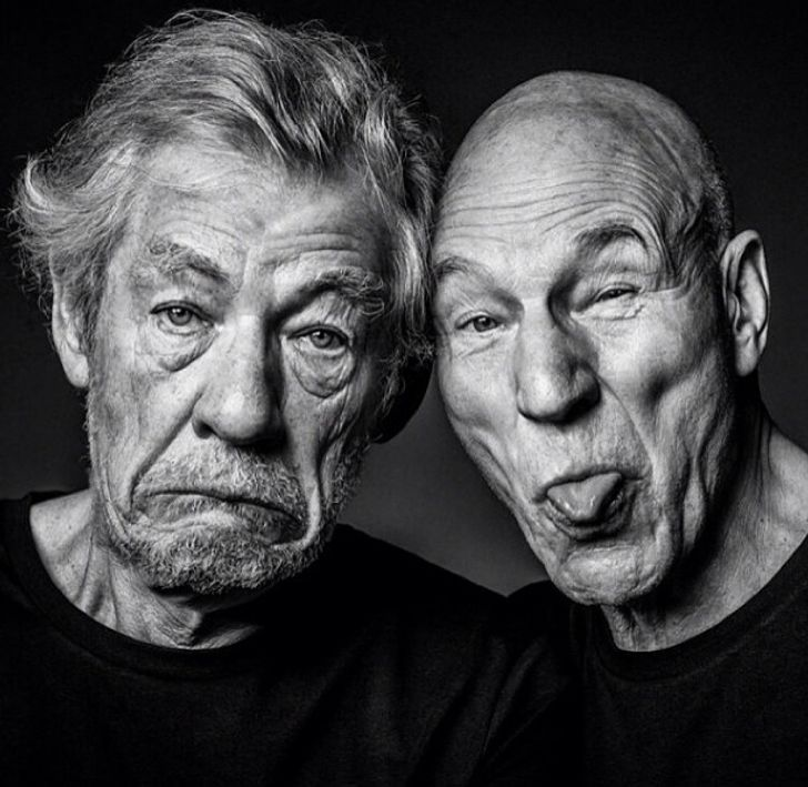 Ian McKellen and Patrick Stewart Have Been Friends for Over 50 Years, and Here Are 20 of the Best Moments From Their Bromance