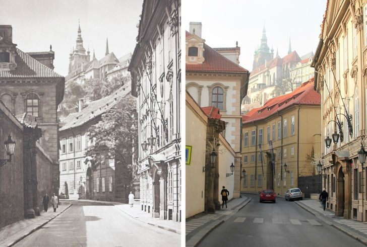 A Photographer Traveled Around Europe to Show How 100 Years Can Change Places