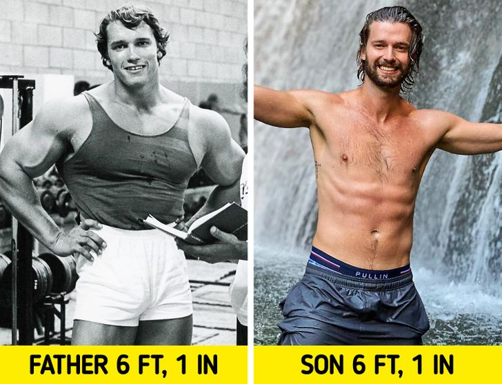 Podľa štúdie väčšina detí získava svoju výšku od svojho otca a váhu od svojej matky