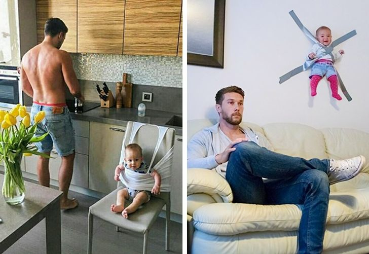 14 Photos That Prove It's Always a Good Idea to Leave Children With Their Dads