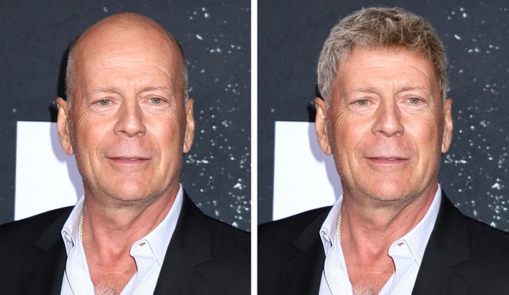 We Imagined 15 Bald Celebs With a Full Head of Hair, and They Look Irresistible