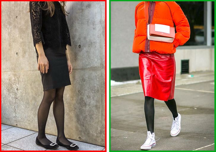 How to Combine Tights With Shoes and Clothes Correctly