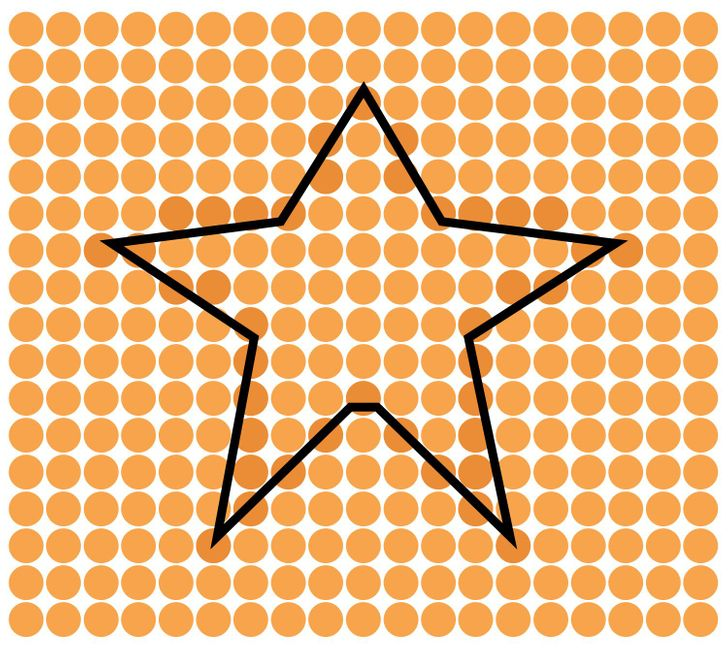 A star shape. Solution 9 of 15.