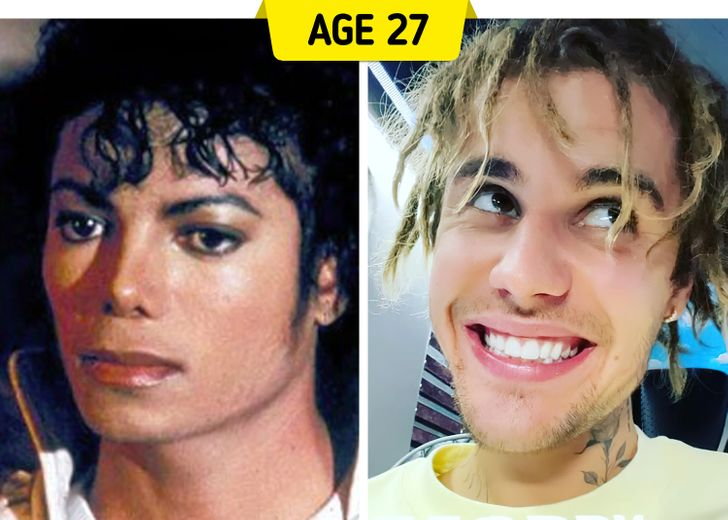 How Idols of Past and Current Generations Looked at the Same Age