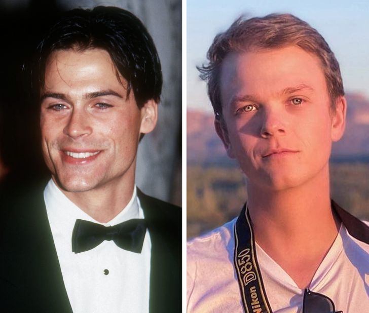 20 Side-by-Side Photos of Hollywood Stars With Their Children at the Same Age