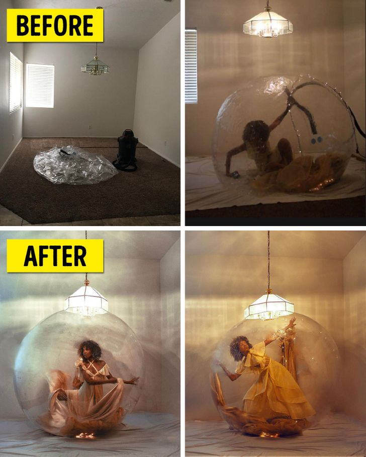 A Model Shares Behind-the-Scenes Shots to Prove Anyone Can Create Magazine-Worthy Photos Right at Home