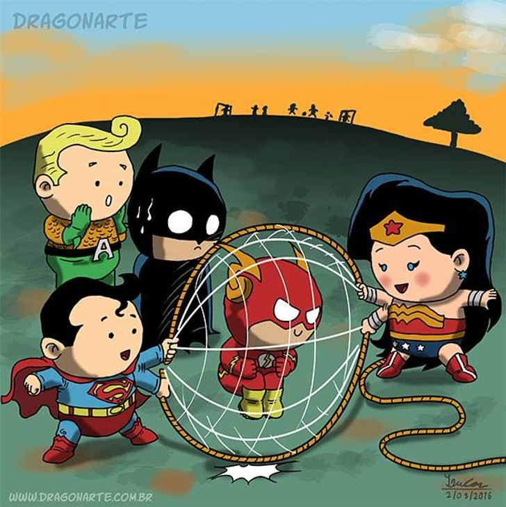16 Comics That Illustrate What Superheroes' Babies Would Look Like