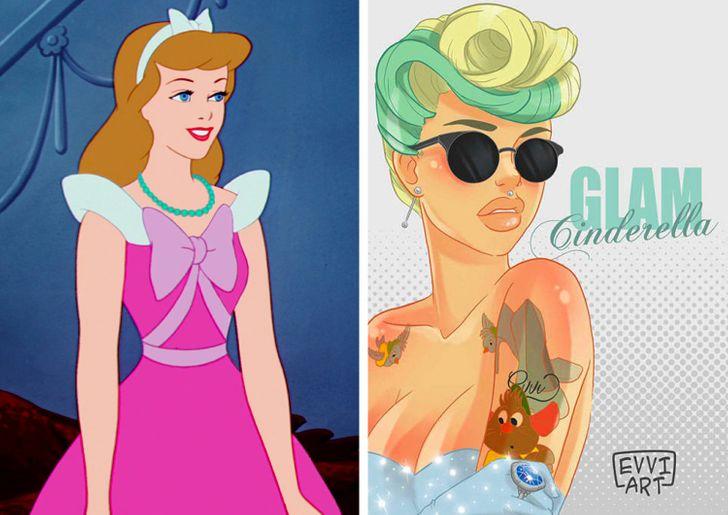 modern day disney princesses all together