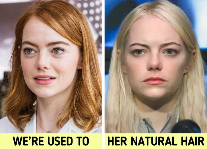 Emma Stone Natural Hair Color