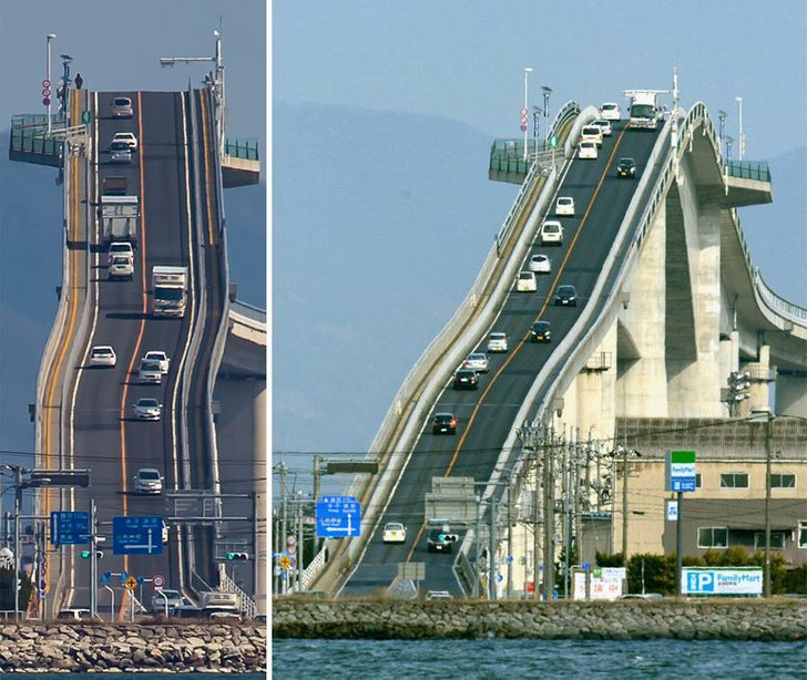 No, That's Not a Roller Coaster! It's a Bridge in Japan