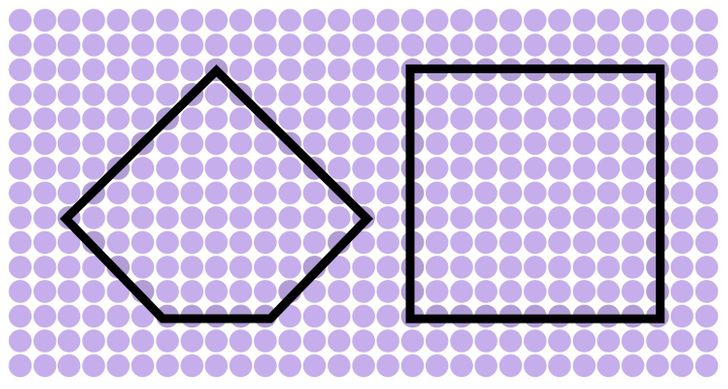 A five-sided figure and a square. Solution 15 or 15.