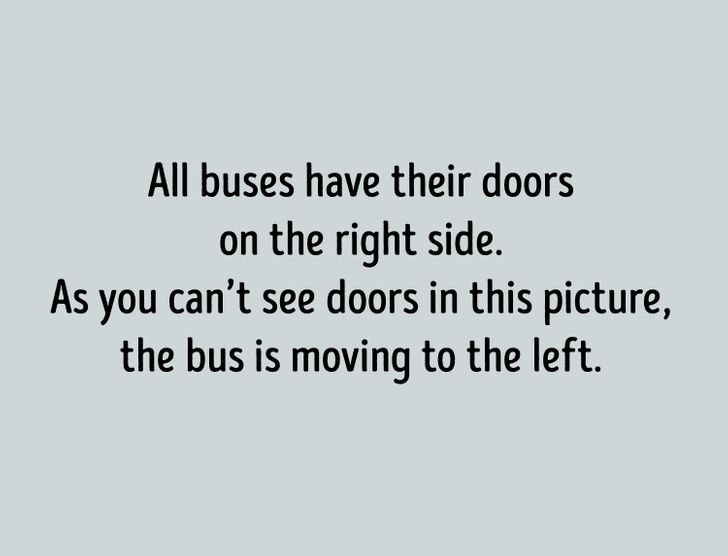 which way is the bus going