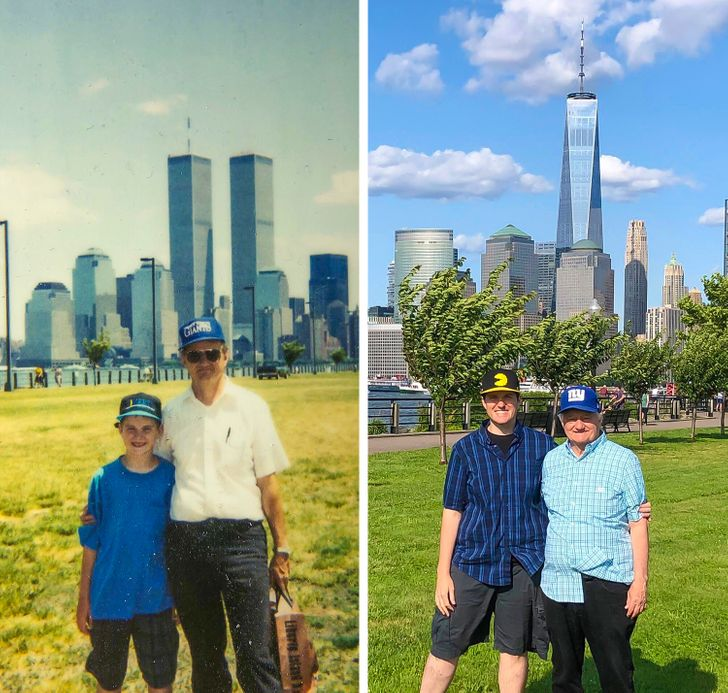18 People Who Brilliantly Recreated Their Old Family Photos