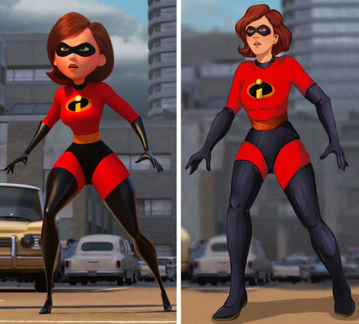 What These Cartoon Characters Will Look Like With Realistic Bodies