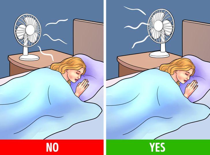 Prečo je pre vás zlé spať s ventilátorom