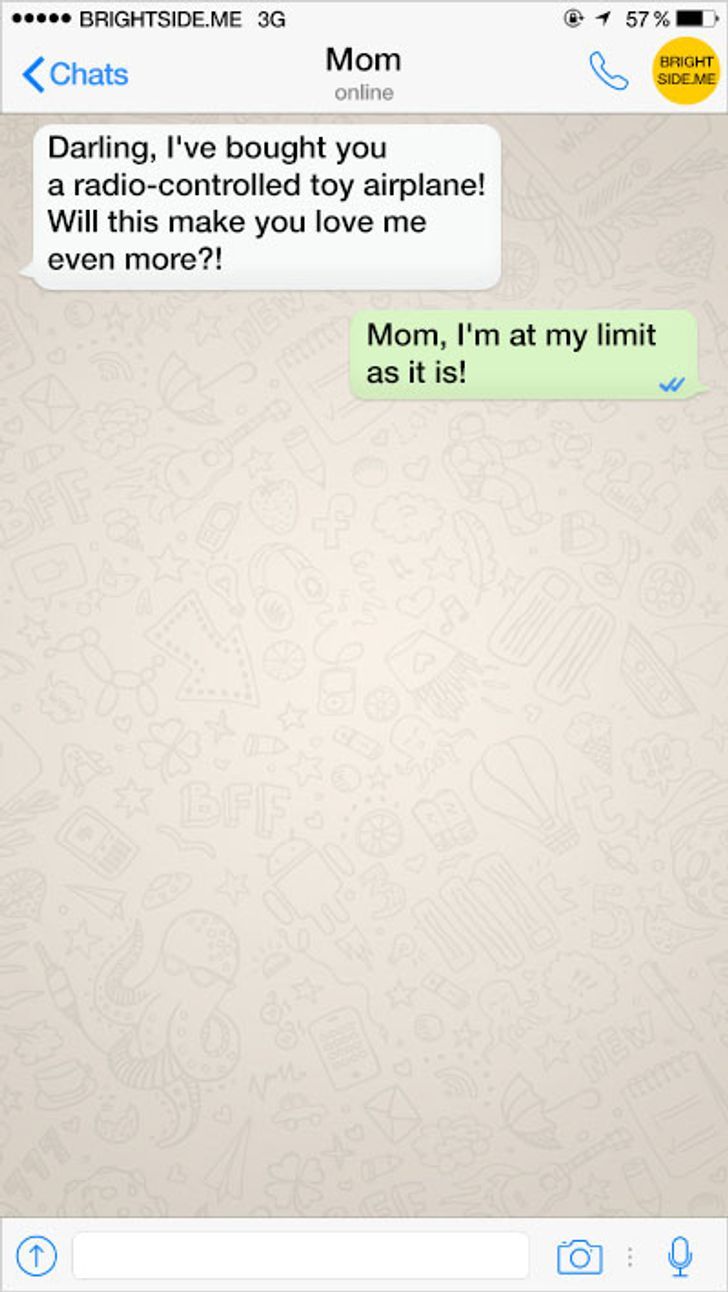 Ten texts from our infinitely loving parents