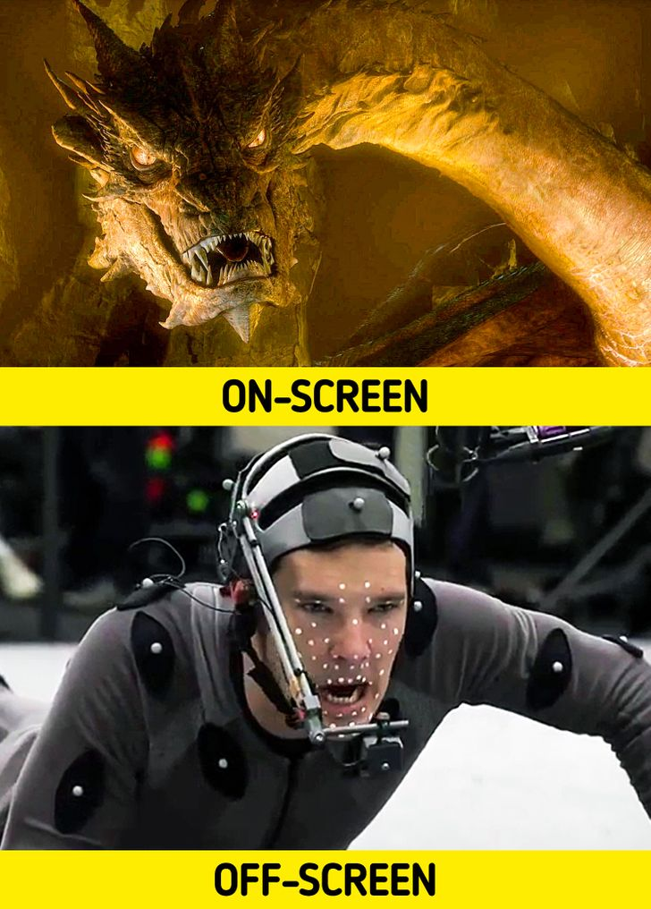 18 Photos Showing What Really Happens Behind the Scenes of Popular Movies