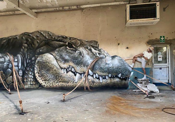 Francúzsky umelec cestuje svetom a svojimi nudnými ulicami oživuje 3D graffiti
