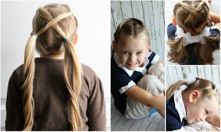 Ten Quick And Easy Hairstyles For Your Daughter Which Even Dad Can Do